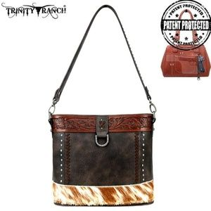 CF Trinity Ranch Hair-On Leather Collection Crossb